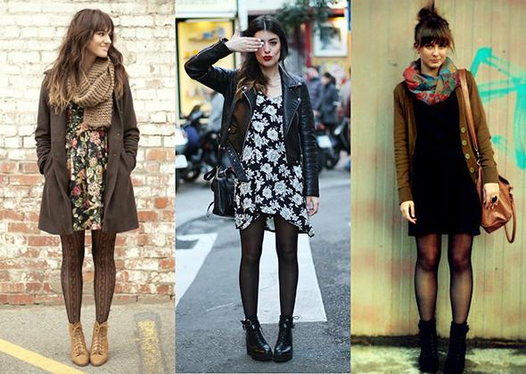 vestido com meia calça